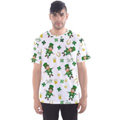 St Patricks Day Pattern Men s Sports Mesh Tee