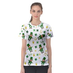 St Patricks Day Pattern Women s Sport Mesh Tee