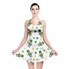 St Patricks Day Pattern Reversible Skater Dress