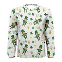 St Patricks Day Pattern Men s Long Sleeve Tee