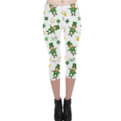 St Patricks Day Pattern Capri Leggings