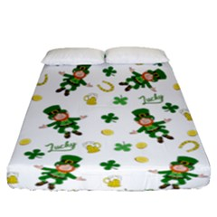 St Patricks Day Pattern Fitted Sheet (queen Size)