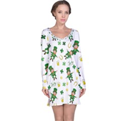 St Patricks Day Pattern Long Sleeve Nightdress