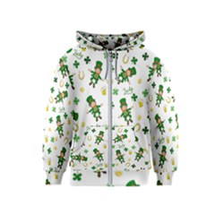 St Patricks Day Pattern Kids  Zipper Hoodie