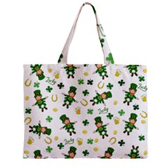 St Patricks Day Pattern Zipper Mini Tote Bag