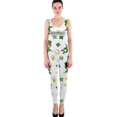 St Patricks Day Pattern One Piece Catsuit