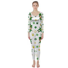 St Patricks Day Pattern Long Sleeve Catsuit
