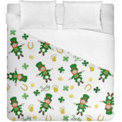 St Patricks Day Pattern Duvet Cover (king Size)