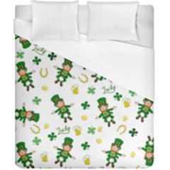 St Patricks Day Pattern Duvet Cover (california King Size)