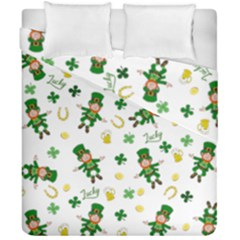 St Patricks Day Pattern Duvet Cover Double Side (california King Size)