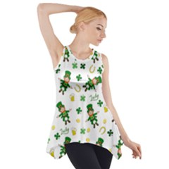 St Patricks Day Pattern Side Drop Tank Tunic