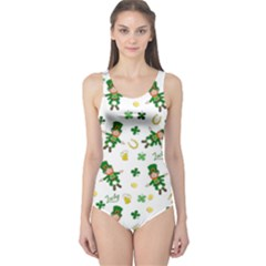 St Patricks Day Pattern One Piece Swimsuit