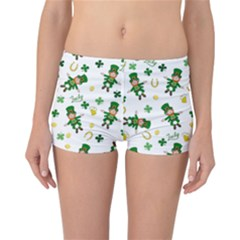 St Patricks Day Pattern Reversible Boyleg Bikini Bottoms