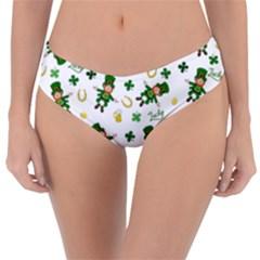 St Patricks Day Pattern Reversible Classic Bikini Bottoms
