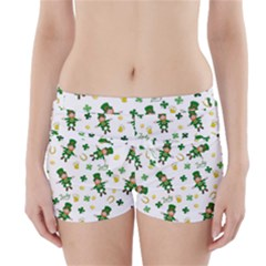 St Patricks Day Pattern Boyleg Bikini Wrap Bottoms