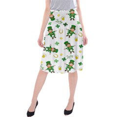 St Patricks Day Pattern Midi Beach Skirt