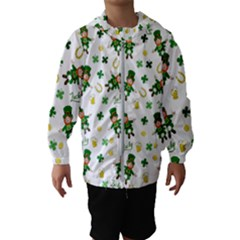 St Patricks Day Pattern Hooded Wind Breaker (kids)