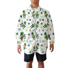 St Patricks Day Pattern Wind Breaker (kids)