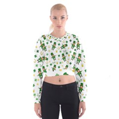 St Patricks Day Pattern Cropped Sweatshirt