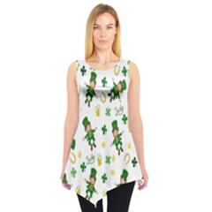 St Patricks Day Pattern Sleeveless Tunic
