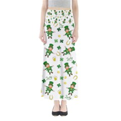 St Patricks Day Pattern Full Length Maxi Skirt