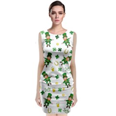 St Patricks Day Pattern Classic Sleeveless Midi Dress