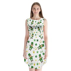 St Patricks Day Pattern Sleeveless Chiffon Dress