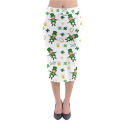 St Patricks Day Pattern Midi Pencil Skirt