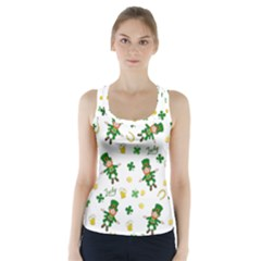 St Patricks Day Pattern Racer Back Sports Top