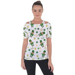 St Patricks Day Pattern Short Sleeve Top