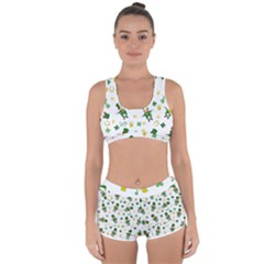 St Patricks Day Pattern Racerback Boyleg Bikini Set