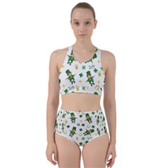 St Patricks Day Pattern Racer Back Bikini Set