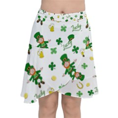 St Patricks Day Pattern Chiffon Wrap