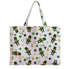 St Patricks Day Pattern Zipper Medium Tote Bag