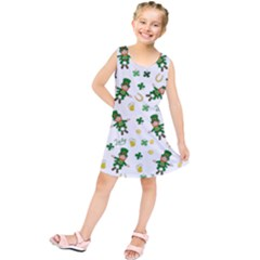 St Patricks Day Pattern Kids  Tunic Dress
