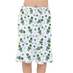 St Patricks Day Pattern Mermaid Skirt