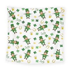St Patricks Day Pattern Square Tapestry (large)