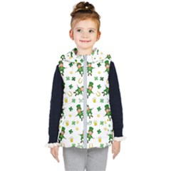 St Patricks Day Pattern Kid s Puffer Vest
