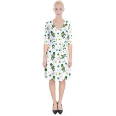 St Patricks Day Pattern Wrap Up Cocktail Dress