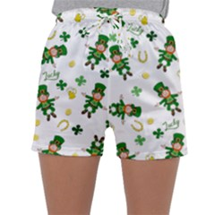 St Patricks Day Pattern Sleepwear Shorts