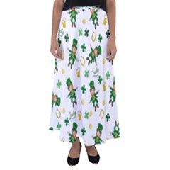St Patricks Day Pattern Flared Maxi Skirt