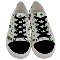 St Patricks Day Pattern Men s Low Top Canvas Sneakers