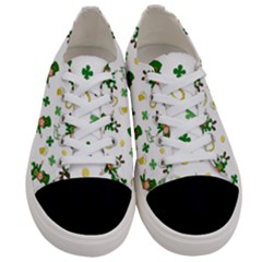 St Patricks Day Pattern Women s Low Top Canvas Sneakers