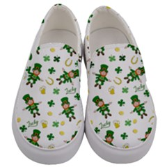 St Patricks Day Pattern Men s Canvas Slip Ons