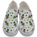 St Patricks day pattern Men s Canvas Slip Ons View1