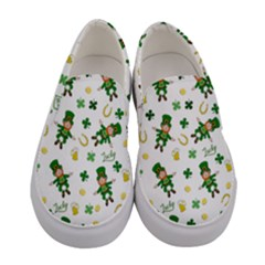 St Patricks Day Pattern Women s Canvas Slip Ons