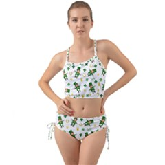 St Patricks Day Pattern Mini Tank Bikini Set