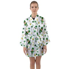 St Patricks Day Pattern Long Sleeve Kimono Robe
