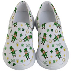 St Patricks Day Pattern Kid s Lightweight Slip Ons
