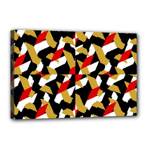 Colorful Abstract Pattern Canvas 18  X 12